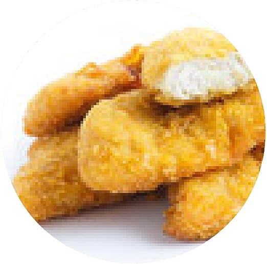 alfombrilla de ratón tiras de oro de pollo frito en blanco ...