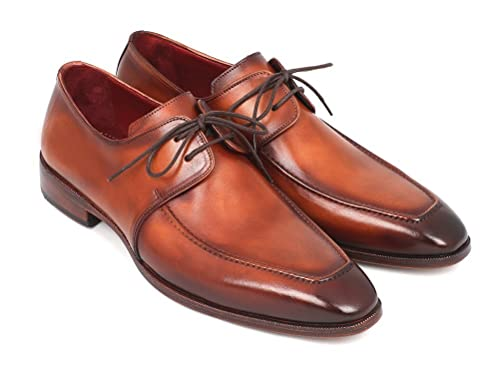 ca5d44f6334f27 Paul Parkman Brown Leather Apron Derby Shoes for Men (Id 33SX92-V2)