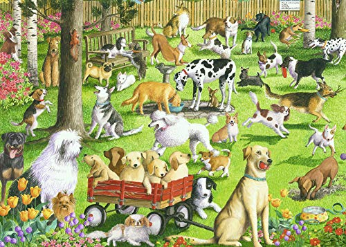 Ravensburger at The Dog Park Large Format 500 Piece Jigsaw Puzzle for Adults - Every Piece is Unique, Softclick Technology Means Pieces Fit Together Perfectly -