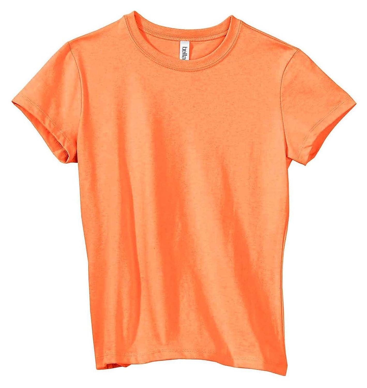 Bella + Canvas Womens Stretch Rib Short-Sleeve T-Shirt (1001) ORANGE