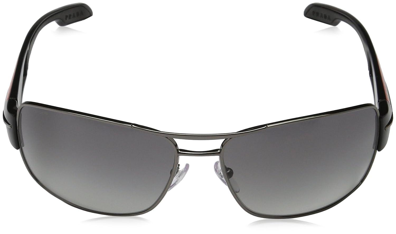 60a1726f7911 Amazon.com  Prada Sport PS53NS 5AV3M1 Gunmetal PS53NS Square Pilot  Sunglasses Lens Category  Prada Sport  Clothing