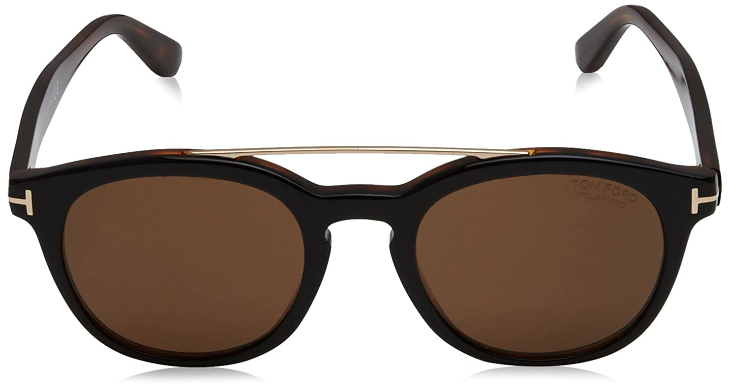 a1bbf379ce Tom Ford Newman FT 515 05H Black Gold   Brown Polarized Sunglasses  Tom Ford   Amazon.ca  Watches
