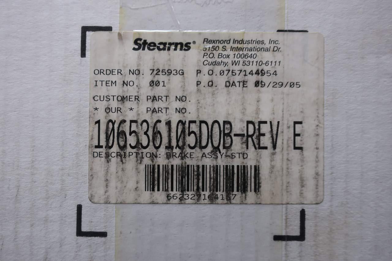REXNORD 106536105DQB Stearns Brake Motor Assembly REV E 15LB-FT 460V-AC: Amazon.com: Industrial & Scientific