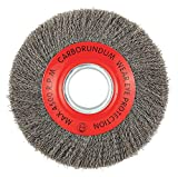 8'' Crimped Wire Wheel Brush, Arbor Hole Mounting, 0.014'' Wire Dia, 1-3/4'' Bristle Trim Length, 1 EA - pack of 5