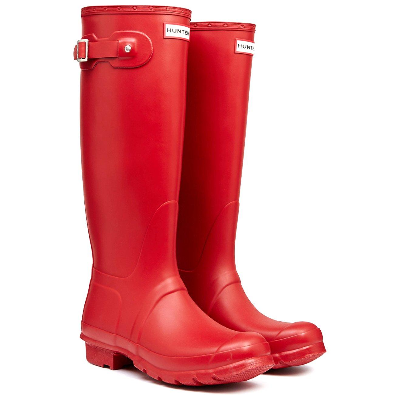 Hunter Womens Original Tall Winter Rain Festival Snow Wellington Boots B00NGPS4K4 10 M US Hunter Red
