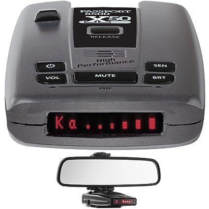 Amazon.com: Escort Passport 8500 X50 Radar & Laser Detector with Smart Cord USB RadarMount Car Mirror Mount Bracket for Radar Detectors: Car Electronics