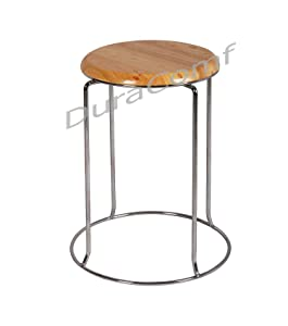 DuraComf Multipurpose Stool for Home/Doctor Stool/Medical Stool/Stool for Office/Stool for Shop/Stool for Clinic/Hospital Stool/Stool for Hotel (Wood seat)