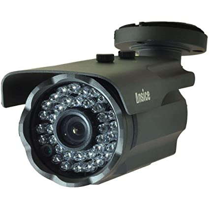 Cámara de seguridad CCTV tipo bala (negro), gran angular de 2