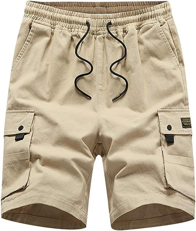 LANSKIRT_Pantalones Hombre Chandal Pantalón Corto de Ropa de ...