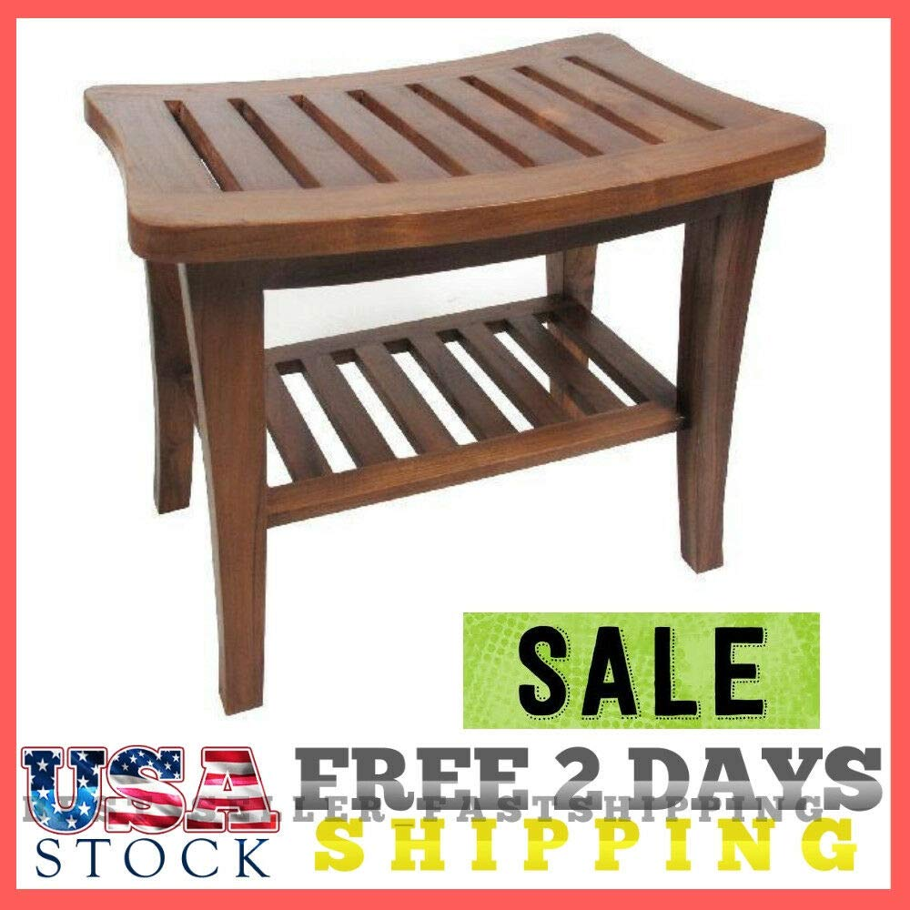 Fantastic Amazon Com Prevent Slippery Bath Teak Wood Shower Bench Uwap Interior Chair Design Uwaporg