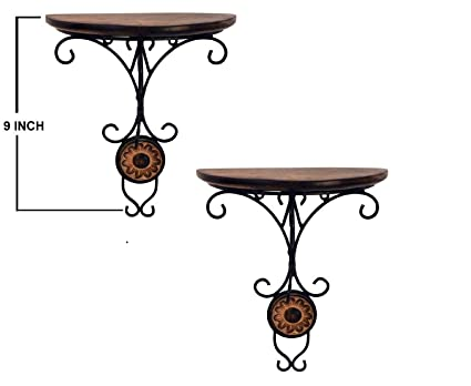 Vian Combo/Pair Of Wooden Wall Bracket Wall Hanging Dã©Cor For Living Room