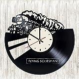 Flying Scotsman Vinyl Wall Clock Train Unique Gifts Living Room Home Decor
