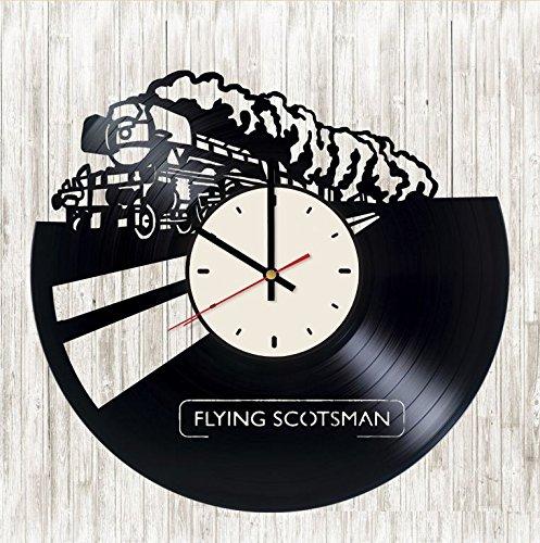 Flying Flying Scotsmanビニール列車壁時計ユニークなギフトリビングルームホームデコレーション B07CVJ13PZ B07CVJ13PZ, 奥多摩町:9865c92b --- ijpba.info