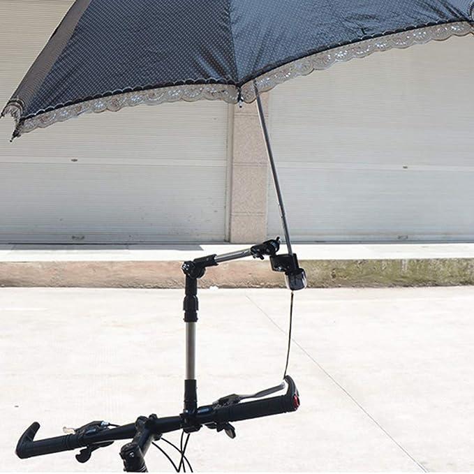 LIOOBO Bicicleta Paraguas Soporte de Montaje Conector Giratorio ...