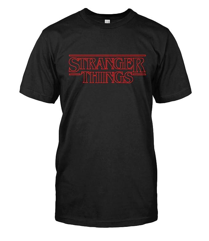 Stranger Things T-Shirt Top Tee (Large, Black)