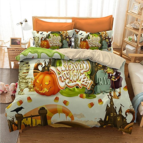 Charming Happy Halloween Cotton Microfiber 3pc 90
