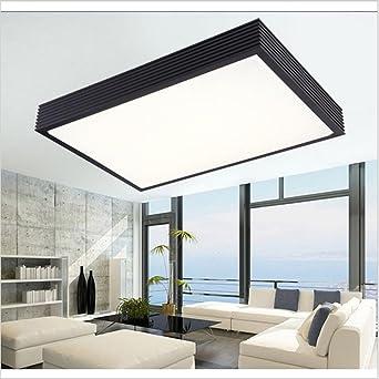 ZSQ modernas lámparas de techo Led para iluminación interior blanco/negro AC 90-260V Lustre Acryl Moderno Lumiere Plafond Lamp Luminaria Lampen,Blanca,64x43cm 32W,Cool white #6783: Amazon.es: Iluminación