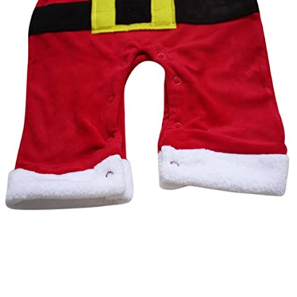 Ensembles Noël Grenouillère Body Pyjama Pour Bébé Fille Garçon Noël Costume  Tenues Avec Chapeaux Rouge + ... e101df4c19e