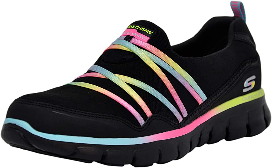 Skechers Sport Scene Stealer - Zapatillas deportivas para mujer, Negro (Negro/Negro/Multicolor.), 36.5 EU: Amazon.es: Zapatos y complementos