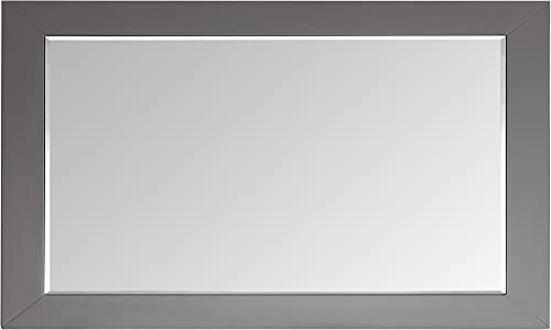Eviva EVMR412-60 x 30-GR Aberdeen 60 Framed Bathroom Mirror Combination, Grey