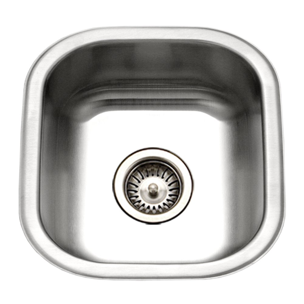Houzer MS-1708-1 Club Series Undermount Stainless Steel Square Bowl Bar/Prep Sink by HOUZER