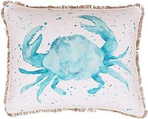 Thro by Marlo Lorenz TH008464001E Carmello Crab Splatter Pillow, Multicolor