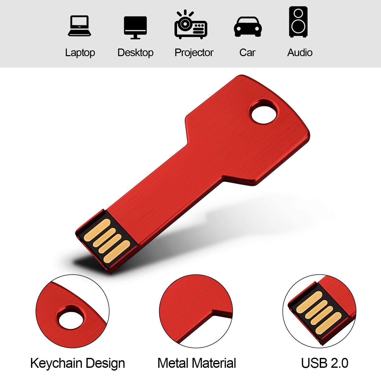 Amazon.com: RAOYI 10 unidades USB Flash Drive Metal Key ...