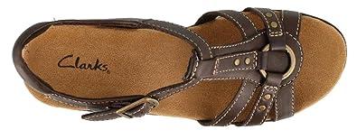 8849ecc96d89 Clarks Lexi Sumac Womens Brown Leather Slingback Sandals Shoes 3 UK   Amazon.co.uk  Shoes   Bags