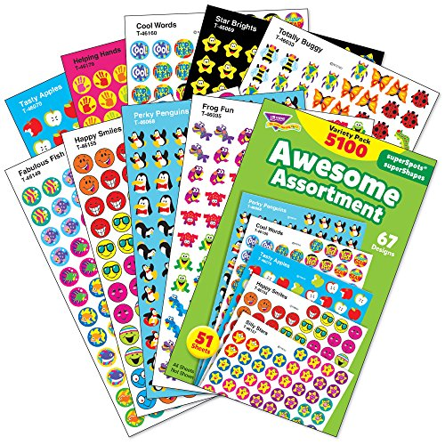 Awesome Assortment: SuperSpots® & SuperShapes Stickers Variety Pack, 5100 - Best Sunglasses Bargain