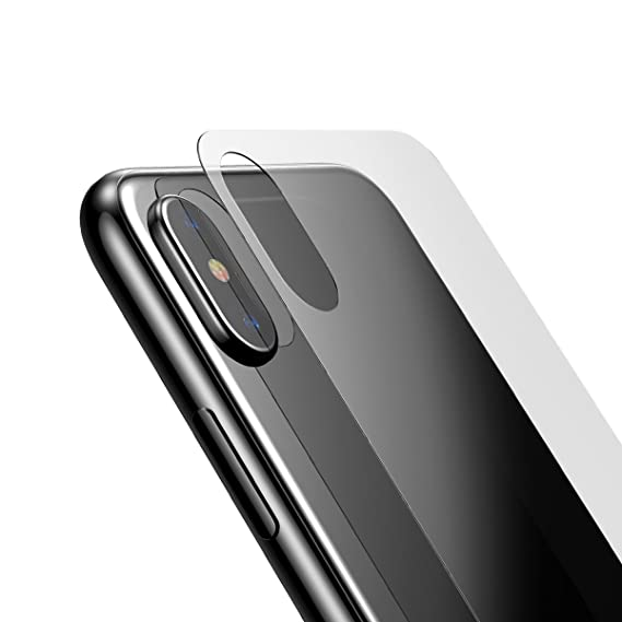 half off 58896 857ee For iPhone X Back Glass Film, Baseus Ultra Thin Anti- fingerprints  Anti-scratch Bubble-Free Back Protector Rear Film for iphone X (Transparent)