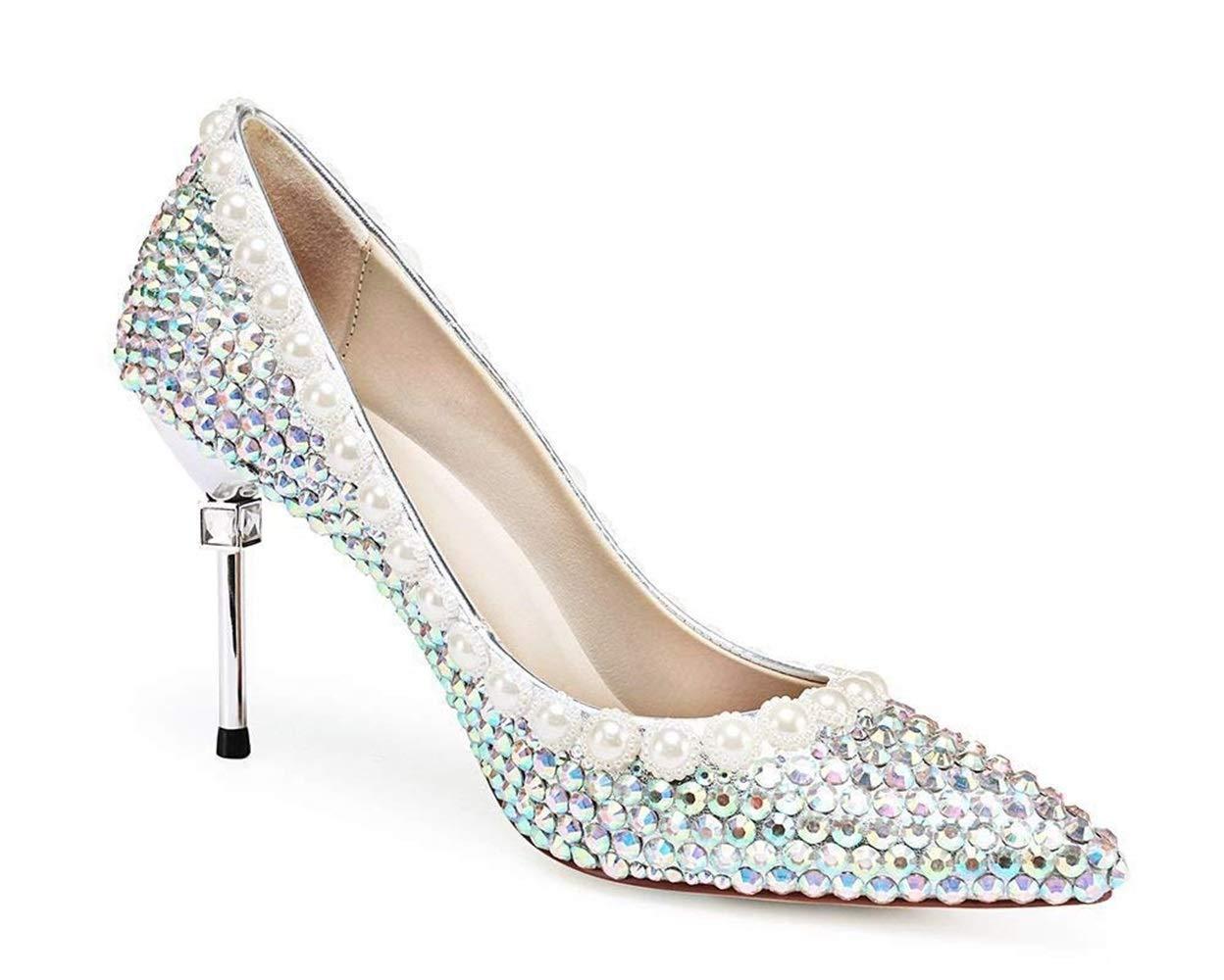 Moontang Braut Sparkle Farbe Strass Hochzeit Hochzeit Hochzeit Schuhe Star Bühne Show High Heels (Farbe   Farbe Größe   2.5-3UK(Foot Length 22.5CM)) a59bc4