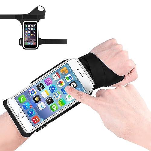 Bracelet Sport Running Sweatproof, Konesky Bande Prébobin écran Tactile avec Taille Réglable pour le Dernier Téléphone Intelligent - Noir
