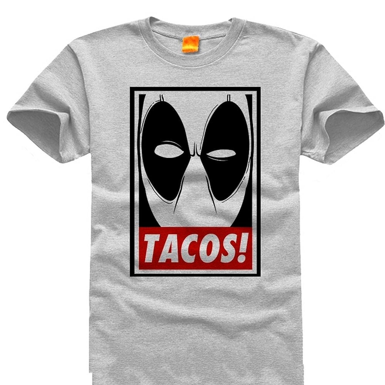 Deadpool - Minimal Eyes - T-Shirt Tacos Grey (XXXL)