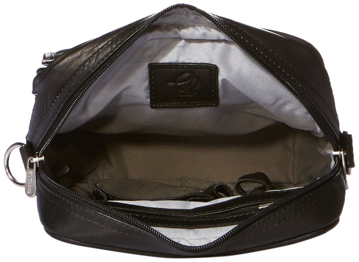 Chocolate Piel Leather Travelers Carry-All Bag One Size