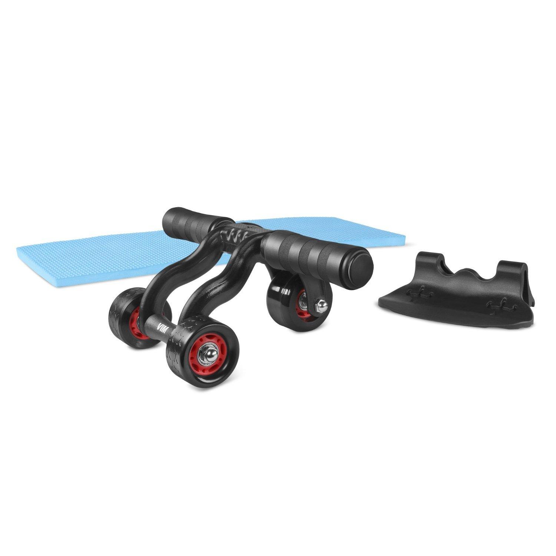 3 wheel ab roller abdominal exercise equipment for home. Black Bedroom Furniture Sets. Home Design Ideas
