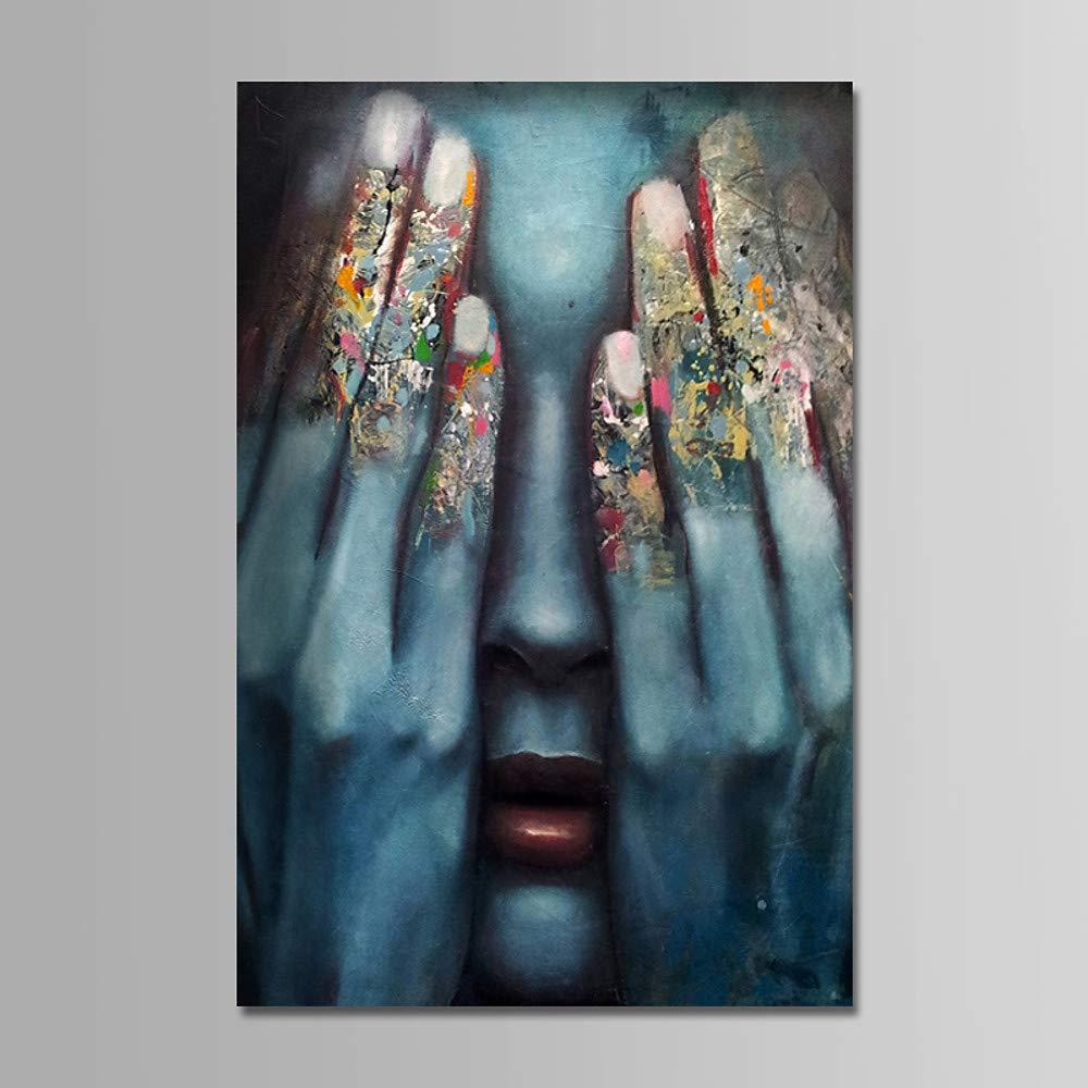 colores increíbles 16    X 24  (40cm X 60cm) LDKAI Pintura al óleo Pintado a Mano-Las Personas Comtemporary Moderna Simple en Lienzo  Con 100% de calidad y servicio de% 100.