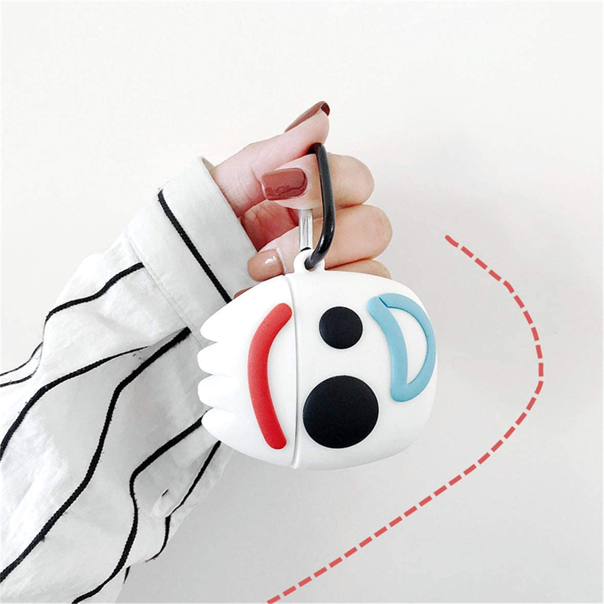 Funda para AirPods 2nd 1st Protectora Silicona Suave AirPod 1/&2 Funda A Prueba de Golpes Dibujos Animados Lindo Piel Muchachas Mujer Ni/ños Dise/ño C/áscara Llavero Moda Gracioso Air Pods Casos 3D