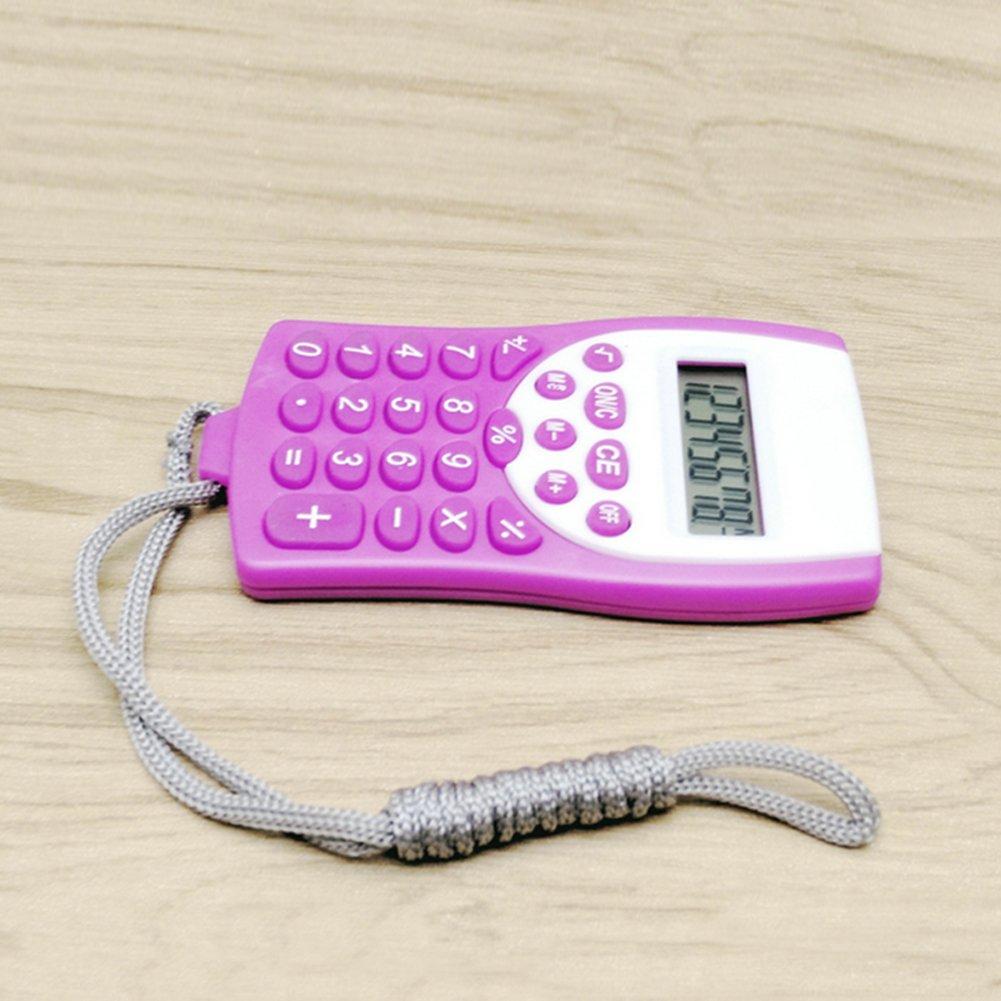Woopower tasti mini calcolatrice 8cifre con cordino per il collo, 5colori, Send by random