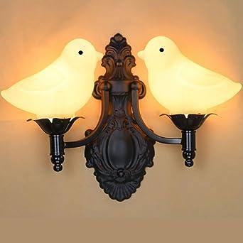 Retro Kreative Wandleuchten Flur Treppenhaus Dekorative Wandlampe  Schlafzimmer Schlummerlampe Vogel Gestalten Licht Schatten Design Wand