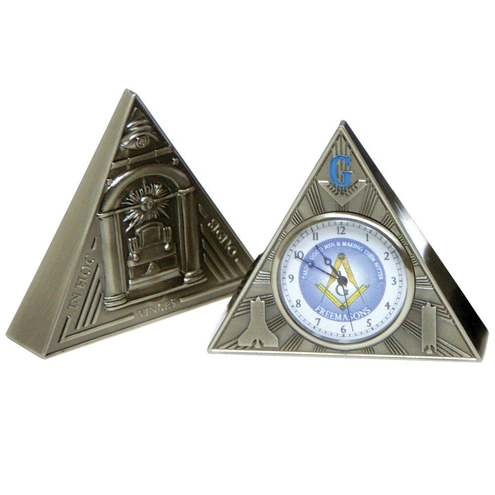 Masonic All Seeing Eye Triangular Desk Clock