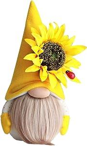 MISYAA Bumble Bee Striped Gnome Swedish Honey Bee Elfs Home Decor Doll Collection Decorative DIY Item(B)