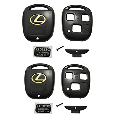 Horande Keyless Entry Remote Control Key Replacement Key Fob Case Shell Fit For Lexus ES GS GX IS LS LX RX SC Key Fob Cover Case (Pack 2): Automotive