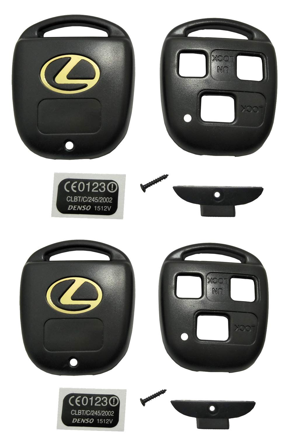 Horande Keyless Entry Remote Control Key Replacement Key Fob Case Shell Fit For Lexus ES GS GX IS LS LX RX SC Key Fob Cover Case (Pack 2) by Horande