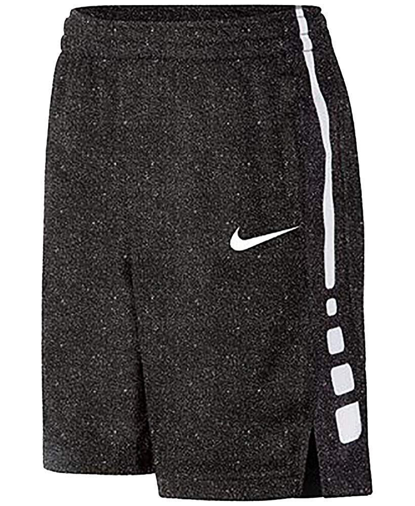 Nike Little Kids' (Boys') Elite Stripe Basketball Shorts (2T, Black (8MC072-023)/White/Reflective Silver) by Nike