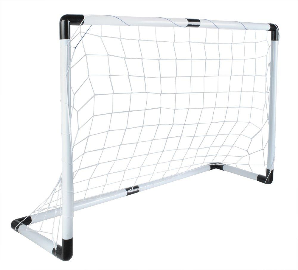 Iso Trade Fussballtor Set 116x79cm Gross Ball Handpumpe Leicht Starkes Netz Einfache Montage 5617