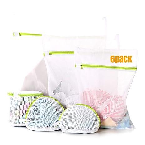 Amazon.com: Bolsas de lavandería Ofone de malla, 6 unidades ...