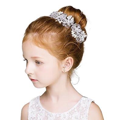 AVILMORE 髪飾り カチューシャ 子供 発表会 キッズ ヘッドドレス ヘアバンド 花びら パール 結婚式 入学式