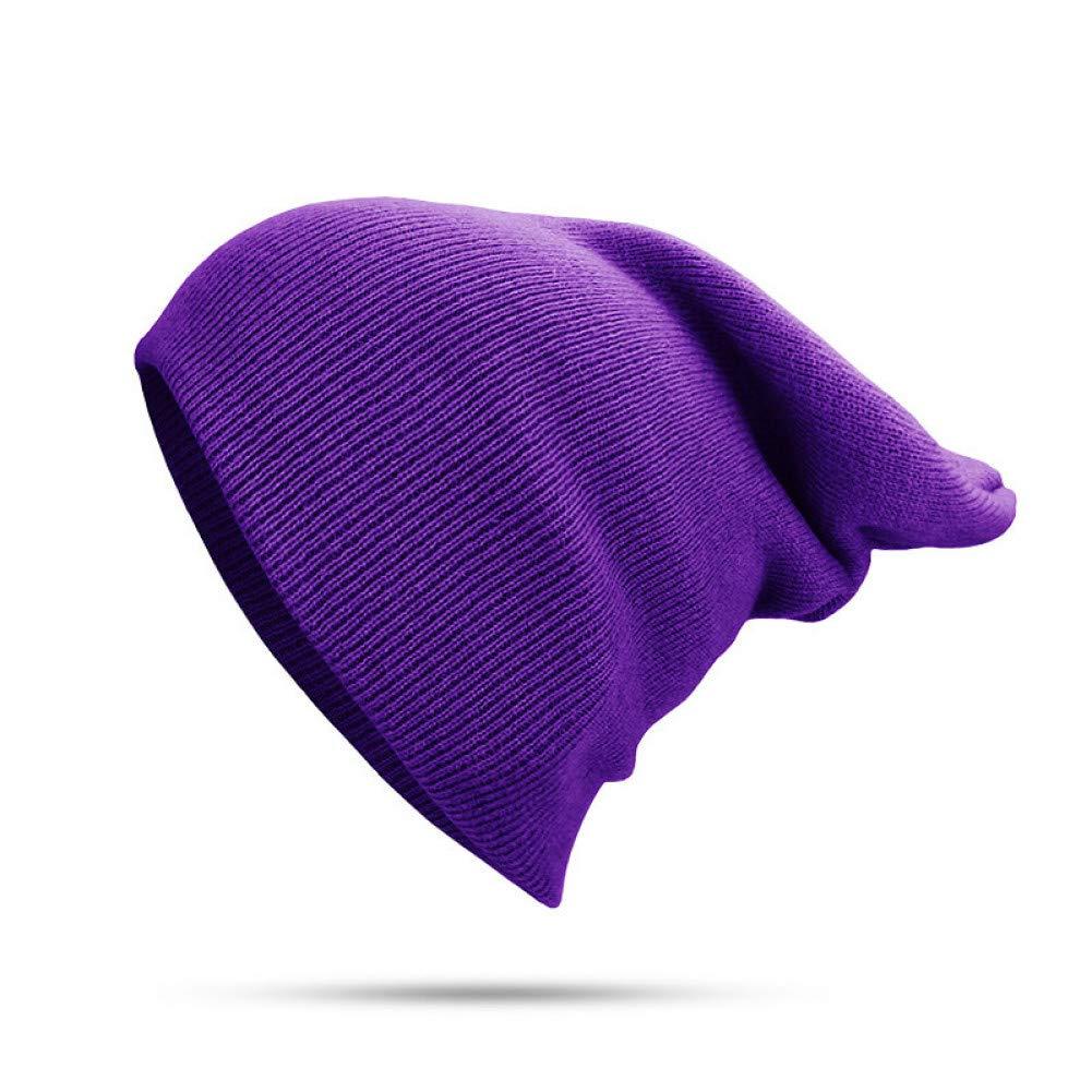 CGXBZA Simple Chapeaux dhiver pour Hommes Et Femmes Beanie Tricot Chapeau Mode Casual Polyvalent Pulls Solide Multi-Couleur Set T/ête Chapeaux