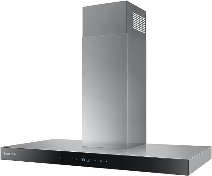 Samsung NK36N5703BS De pared Negro, Acero inoxidable 722m³/h A - Campana (722 m³/h, Canalizado/Recirculación, A, A, C, 72 dB): Amazon.es: Hogar