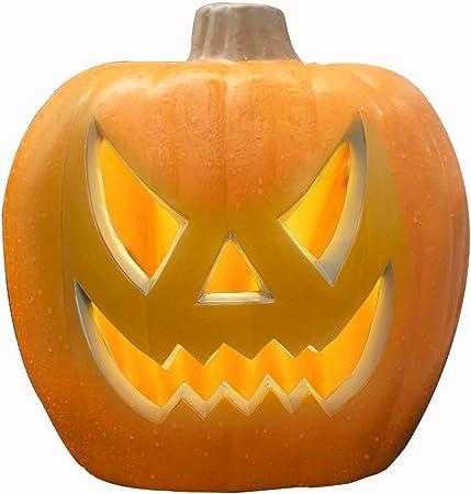 EveryMomentCounts Halloween Pumpkin Lantern Decor Light Jack-O-Lantern Decorations Indoor Outdoor for Backyard Lawn or Garden 5 Inch